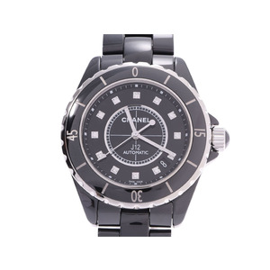 Chanel J12 38mm Black Dial H1626 Men's Ceramic 12P Diamond Automatic Watch A Rank CHANEL Galla Used Ginzo