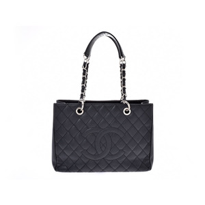 Chanel Matrasse GST Tote Bag Black SV hardware Ladies Caviar Skin A rank CHANEL Galla Used Ginzo