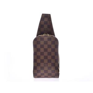 ルイ・ヴィトン (Louis Vuitton) ルイヴィトン ダミエ ジェロニモス ブラウン N51994 メンズ レディース 本革 ボディバッグ Aランク 美品 LOUIS VUITTON 中古 銀蔵