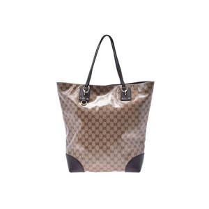 Gucci GG Crystal Tote Bag Outlet Beige Men's Womens Coated Canvas / Leather AB Rank GUCCI Used Ginzo