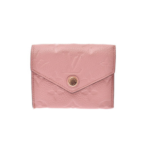 Louis Vuitton Anplant Porto Fouille Victorine Rose Valerine M62936 Ladies Genuine Leather Wallet AB Rank LOUIS VUITTON Used Ginzo
