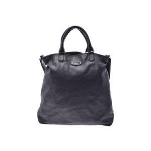 Balenciaga 2WAY tote bag Black Ladies' men's calf B rank BALENCIAGA used Ginzo