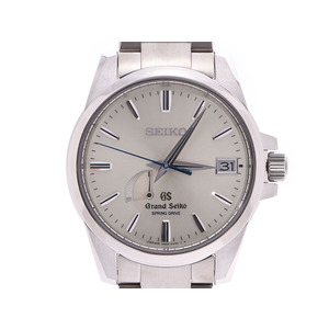 SEIKO GRAND Silver Dial SBGA 079 Men's TI Automatic Watch A Rank Beauty Product Box Warranty Claim Card Post Office Ginzo