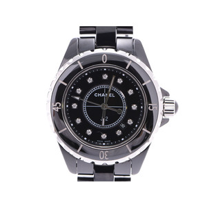 Chanel J12 33mm Black Dial 12P Diamond H1625 Men's Ladies Ceramic Quartz Watch A Rank CHANEL Used Ginzo