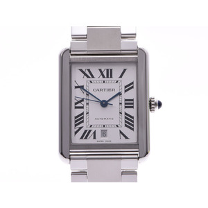 Cartier Tank Solo XL White Dial W5200028 Men's SS Automatic Rolled Watch A Rank Beauty Product CARTIER Used Ginzo