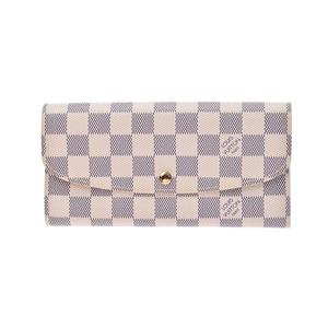 Louis Vuitton Azur Portfolio-Emily White N63546 Men's Genuine Leather Long Purse A Rank LOUIS VUITTON Used Ginzo