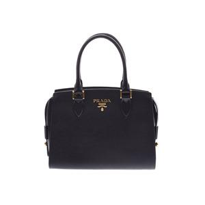 Prada 2WAY handbag black G metal fittings 1BA164 Ladies Safiano Shindo beauty goods PRADA with strap Used Ginzo