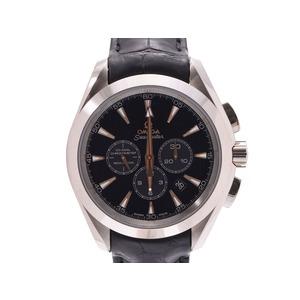 Omega Seamaster Aqua Terra Black Dial 231.53.44.50.01.001 Men's WG / Leather Automatic Rolled Watch AB Rank OMEGA Box Gallery Used Ginzo