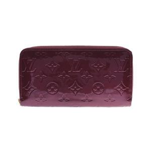 Louis Vuitton Vernis Zippy wallet Rouge For Vist M91536 Women's long AB rank LOUIS VUITTON