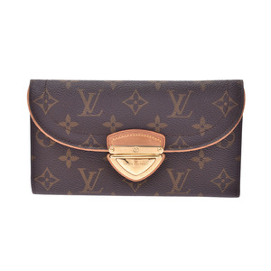 Louis Vuitton Monogram Portofoy Yugenie Brown M60123 Men's Genuine Leather Long Purse B rank LOUIS VUITTON Used Ginzo