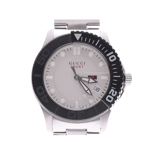 Gucci G Timeless 126.2 Ivory Dial Men's SS Quartz Watch A Rank Beauty Product GUCCI Box Used Ginzo