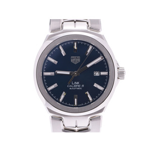 Tag Heuer Link Caliber 5 Blue Dial WBC 2112 Men's SS Self-winding Watch A Rank Beauty Product TAG Box Gallery Used Ginzo