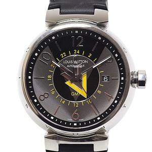 LOUIS VUITTON Louis Vuitton Men's Watch Tambour VVV Automatic GMT Q1D31 Gray & Black Dial