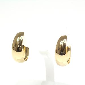 K18 YG Komaru Design Earrings Width 5 mm 0.9 g Yellow Gold
