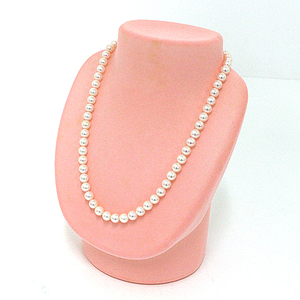 Pearl necklace 7-7.5mm ball clasp silver 46cm A rank