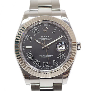 ROLEX Rolex Men's Watch Datejust 2 116334 Random Serial Black (Black) Dial