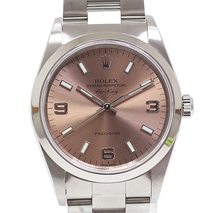 ROLEX Rolex Men's Watch Air King 14000 Pink Dial Number A (1999)