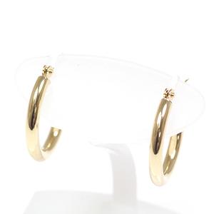 K18 Yellow Gold Hoop Earrings 1.5cm Diameter 2mm K18YG