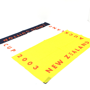 Louis Vuitton LOUIS VUITTON Cup 2003 Scarf 100% Cotton CUP NEW ZEALAND AUCKLAND Yellow White Black Red