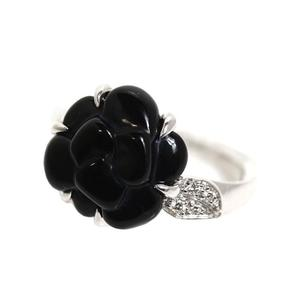 Chanel Camellia Collection Ring K18WG Diamond Ladies Rings Jewelry Finished