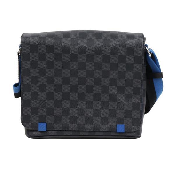 a09275cb Louis Vuitton LV Damier Graphite District PM NM N42420 Shoulder Bag Men's  LOUISVUITTON   eLady.com