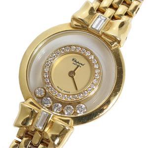 ショパール Chopard  ハッピーダイヤモンド リボン  20 5512 金無垢 クォーツ レディース 腕時計