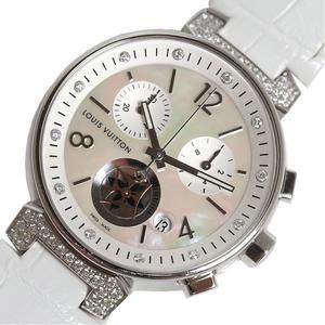 Louis Vuitton LOUIS VUITTON Tambour Moon Star MM Q8 H00 Rug Diamond White Shell Quartz Ladies Wrist Watch