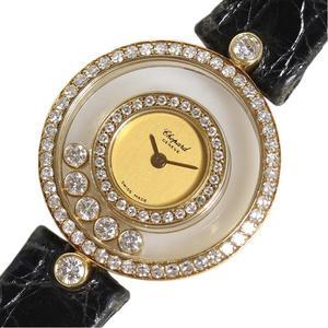 ショパール Chopard  ハッピーダイヤモンド  20 3957 金無垢 ダイヤベゼル クォーツ レディース 腕時計