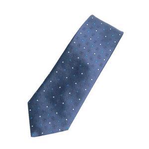 Louis Vuitton Kravat-LV Circle Dots M 70181 Silk 100% Blue Marine Tie Mens LOUIS VUITTON