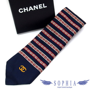 Chanel border chain pattern coco mark tie 20190610