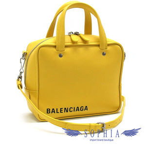 Balenciaga 2WAY bag triangle square yellow 20190528