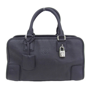 Genuine LOEWE Loewe Leather Amazona 28 Handbag Black 352.45