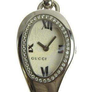 Genuine GUCCI Gucci Horsebit Diamond Bezel Ladies Quartz Wrist Watch Model: 103