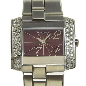 Genuine SEIKO Seiko Credol Diamond Bezel Ladies Quartz Watch Model: 1E70-0BL0