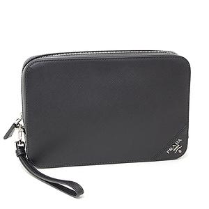 Prada PRADA Safiano Case Clutch Bag SAFFIANO TRAVEL NERO Black Calf 2VF017 9Z2 F0002 V OOA Second