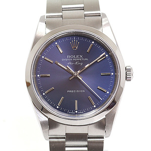 ROLEX Rolex Men's Watch Air King 14000 No. X (made in 1991) Manufacturer OH ブ ル ー Blue Dial