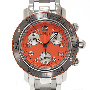 HERMES Hermes Boys Wrist Watch Clipper Diver Chronograph CL 2.316 Orange Dial Quartz