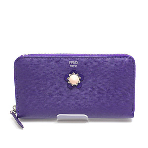 FENDI Fendi Crayons round zipper long wallet 8M0299 purple