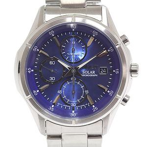 SEIKO Seiko Men's Watch Wired Solar AGAD058 Blue (blue) Dial