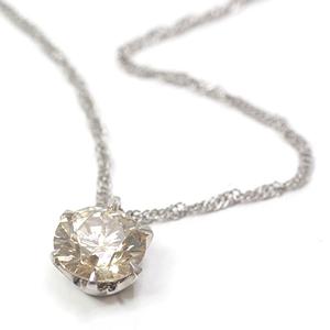 Platinum 1 grain brown diamond necklace 42 38 cm Pt850 Pt1000 (1.015ct) pure platinum