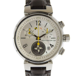 Genuine LOUIS VUITTON Louis Vuitton Tambour Lovely Cup Chrono Ladies Quartz Wrist Watch Model: Q132C
