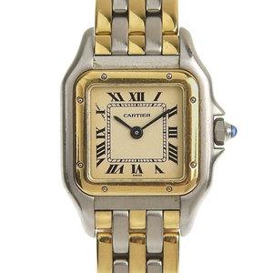 Genuine Cartier Panther SM 3 Row Ladies Quartz Wrist Watch Model: 1057917