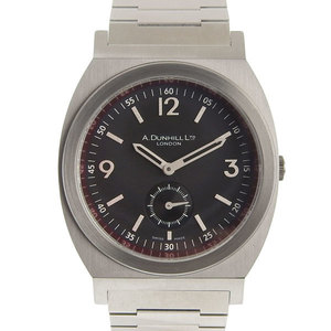 Genuine Dunhill Round Small Seconds Men's Quartz Watch 8034
