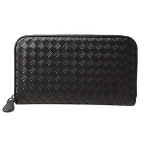Bottega Veneta Long wallet BOTTEGA VENETA round zipper leather black 114076V46511000