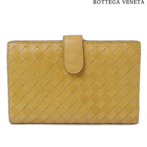 Bottega Veneta Purse BOTTEGA VENETA Folded Lambskin Vintage Mustard
