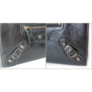 Balenciaga Wallet BALENCIAGA Long wallet with zipper 163471 black