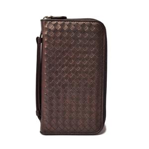 Bottega Veneta Long wallet travel case BOTTEGA VENETA round fastener type metallic brown 169730