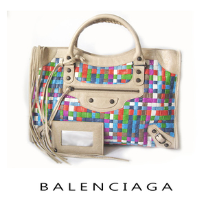 Balenciaga Bag BALENCIAGA Editor's The City Intrechart Multi X Beige 115748