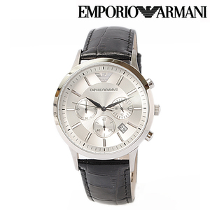 EMPORIO ARMANI Classic Chronograph Black Mens Watch AR2432