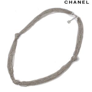 Chanel Long Necklace Pendant CHANEL CC Mark Chain Vintage Silver